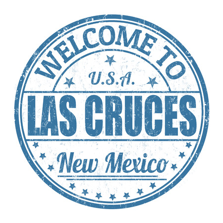 Welcome to Las Cruces grunge rubber stamp on white background