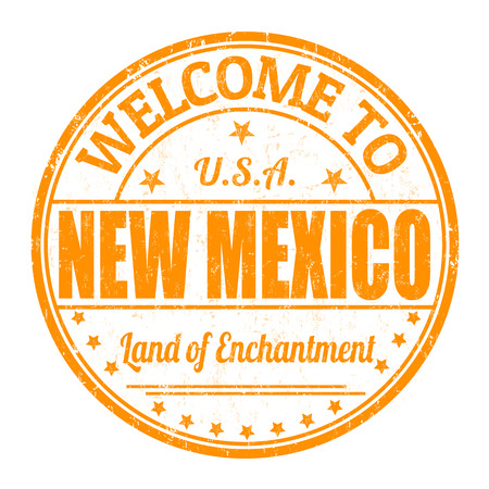 enchantment: Welcome to New Mexico grunge rubber stamp on white background