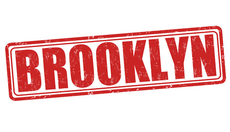 Brooklyn grunge rubber stamp on white background, vector illustration Vector