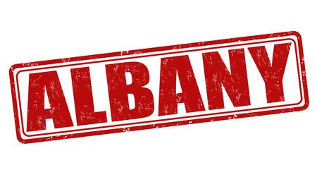 albany: Albany grunge rubber stamp on white background, vector illustration Illustration