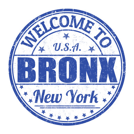 Welcome to Bronx grunge rubber stamp on white background, vector illustration Illustration