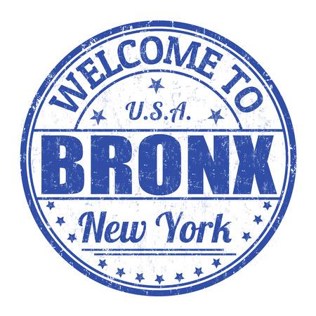 bronx: Welcome to Bronx grunge rubber stamp on white background, vector illustration Illustration