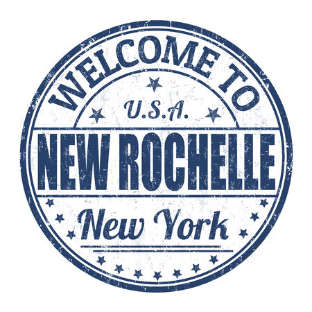 Welcome to New Rochelle grunge rubber stamp on white background, vector illustration Vector