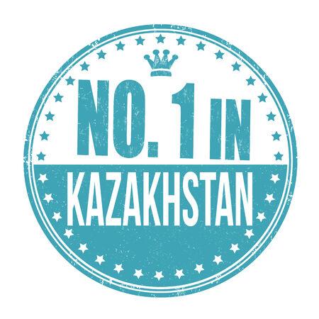 Number one in Kazakhstan grunge rubber stamp on white background, vector illustration Vector
