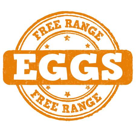free vector: Free range grunge rubber stamp on white background, vector illustration Illustration