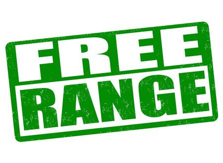 preservatives: Free range grunge rubber stamp on white background, vector illustration Illustration