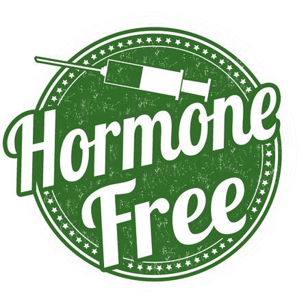 Hormone free grunge rubber stamp on white background, vector illustration