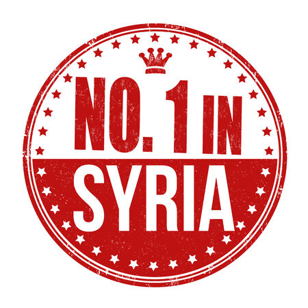 Number one in Syria grunge rubber stamp on white background Vector