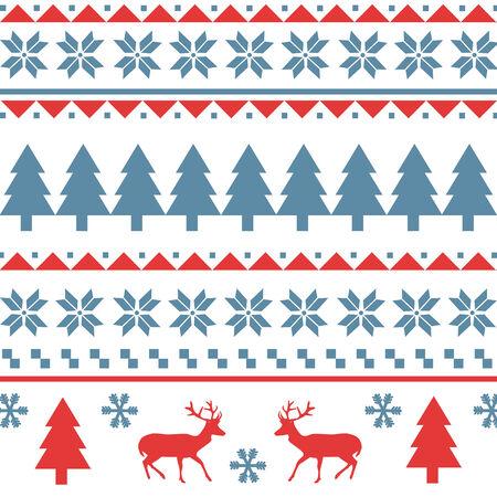 scandynavian: Seamless Christmas pattern pattern