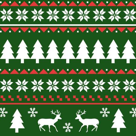 scandynavian: Seamless Christmas pattern Illustration