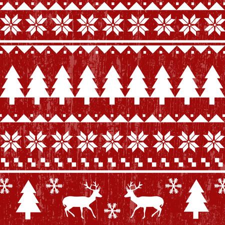 Seamless Christmas pattern or scandynavian pattern, vector illustration 일러스트