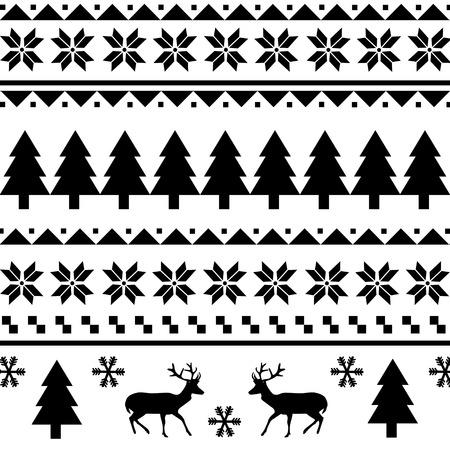 シームレスなクリスマス模様  イラスト・ベクター素材