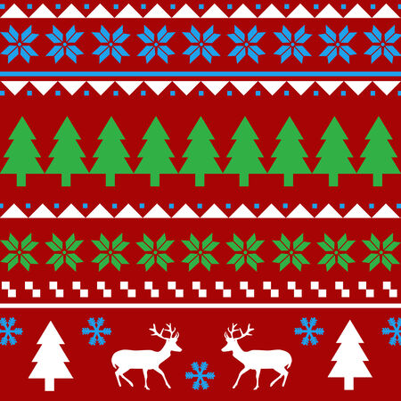 Seamless Christmas pattern pattern Vector