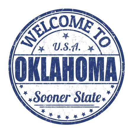 visit us: Welcome to Oklahoma grunge rubber stamp on white background, vector illustration Illustration