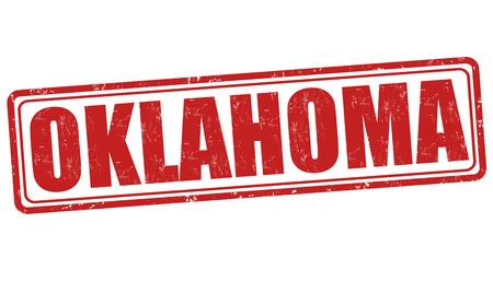 oklahoma: Oklahoma grunge rubber stamp on white background, vector illustration Illustration