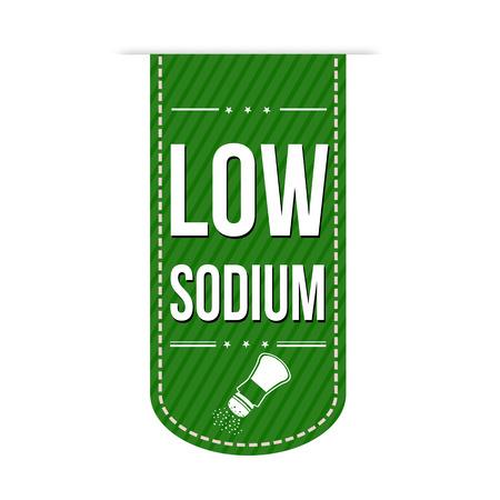 sodium: Low sodium banner design over a white background, vector illustration