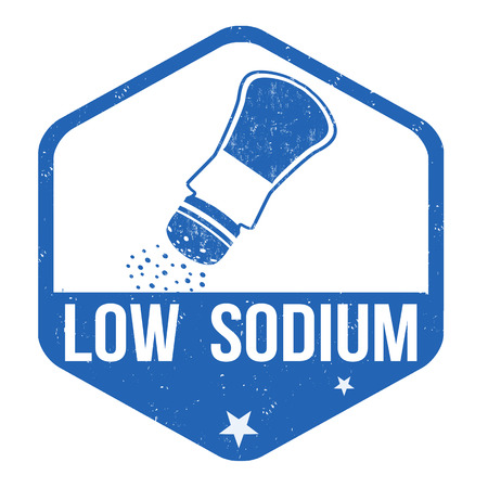 salt free: Low sodium grunge rubber stamp on white background, vector illustration Illustration