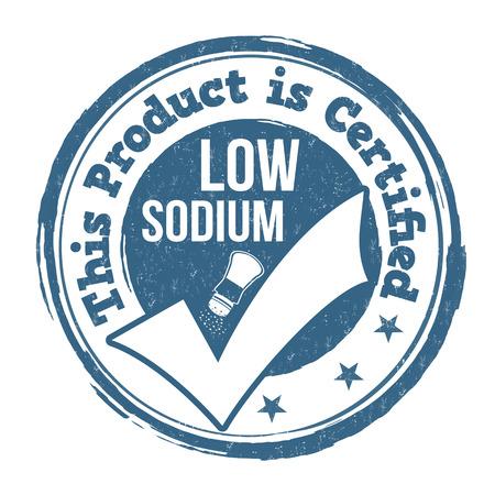 sodium: Low sodium grunge rubber stamp on white background, vector illustration Illustration