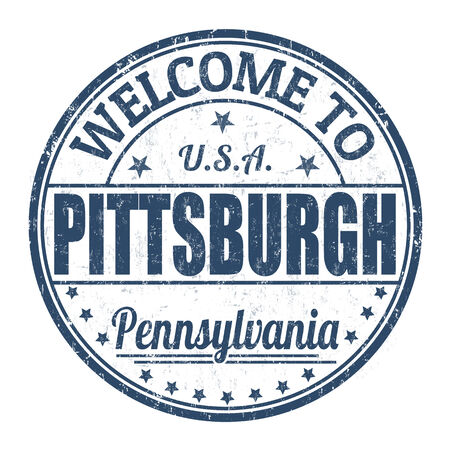 visit us: Welcome to Pittsburgh grunge rubber stamp on white background, vector illustration Illustration