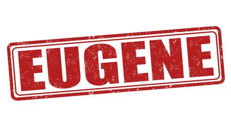 eugene: Eugene grunge rubber stamp on white background, vector illustration