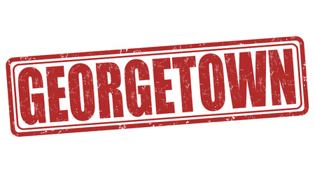 georgetown: Georgetown grunge rubber stamp on white background