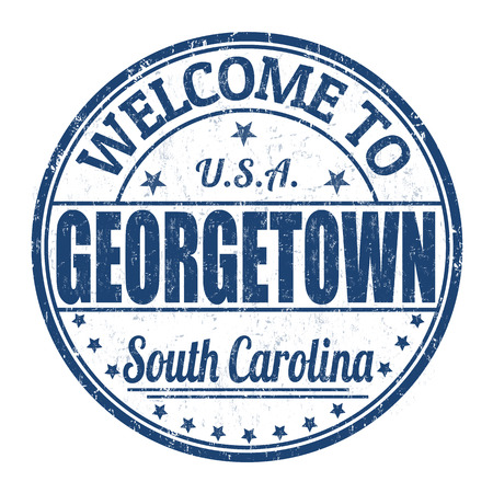 georgetown: Welcome to Georgetown grunge rubber stamp on white background