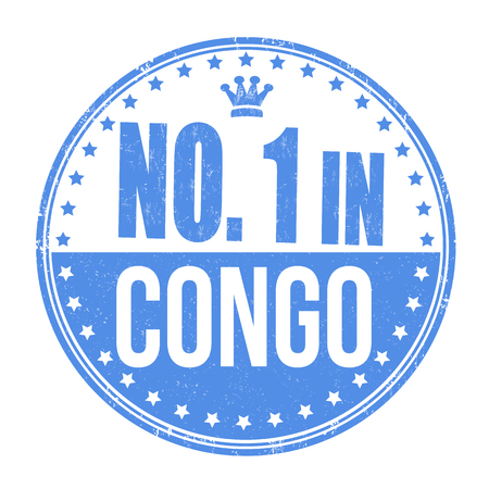 Number one in Congo grunge rubber stamp on white background Vector