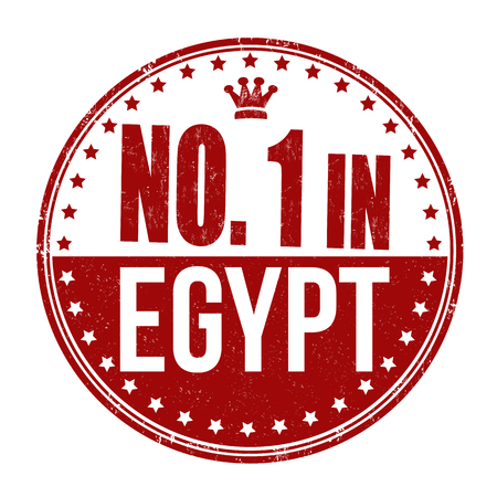 Number one in Egypt grunge rubber stamp on white background Vector