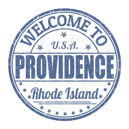 island state: Welcome to Providence grunge rubber stamp on white background, vector illustration