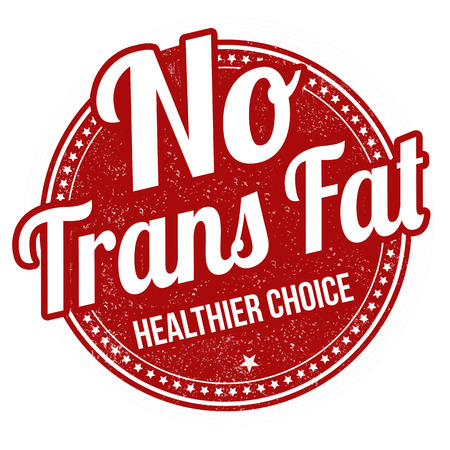 No trans fat grunge rubber stamp on white background, vector illustration  イラスト・ベクター素材
