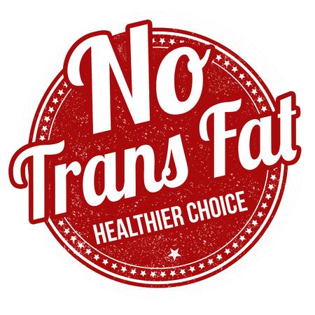 healthier: No trans fat grunge rubber stamp on white background, vector illustration Illustration