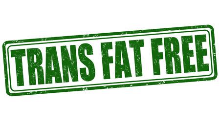 healthier: Trans fat free grunge rubber stamp on white background, vector illustration Illustration