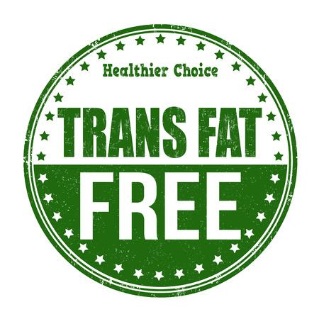 cholesterol free: Trans fat free grunge rubber stamp on white background, vector illustration Illustration