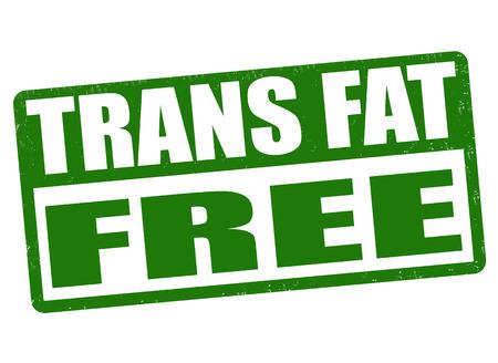no cholesterol: Trans fat free grunge rubber stamp on white background, vector illustration Illustration