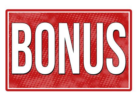 rood teken: Bonus red sign isolated on a white background, vector illustration