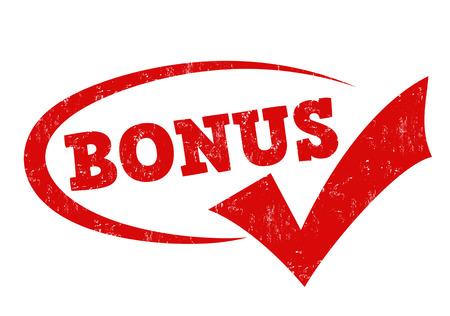 rubber stamp grunge de Bonus sur fond blanc, illustration vectorielle Vecteurs