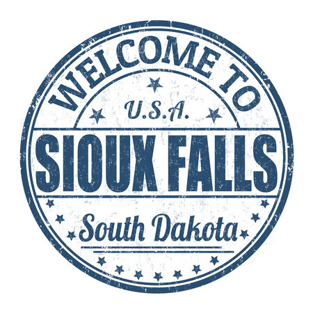 sioux: Welcome to Sioux Falls grunge rubber stamp on white background, vector illustration