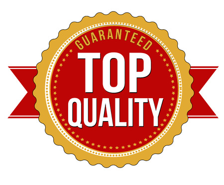 Top quality guaranteed badge on white background, vector illustration Vector