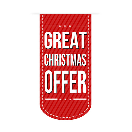 recommendations: Great Christmas offer banner design over a white background, vector illustration