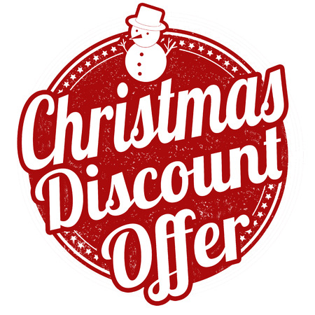 Christmas Discount Offer Grunge Rubber Stamp On White Background ...
