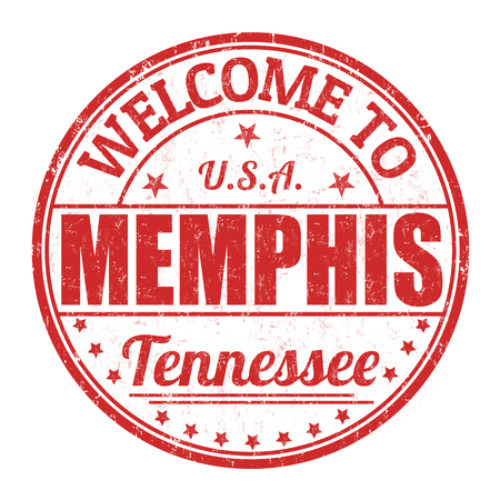 Welcome to Memphis grunge rubber stamp on white background, vector illustration Illustration