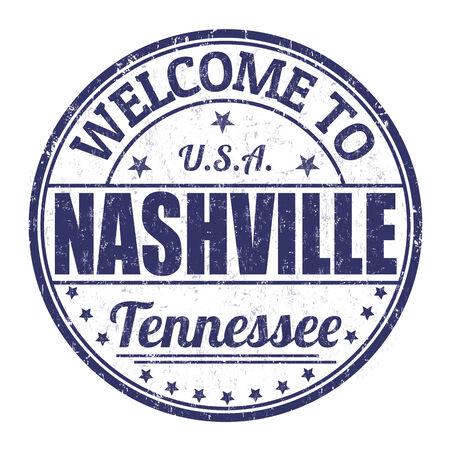 nashville: Welcome to Nashville grunge rubber stamp on white background, vector illustration
