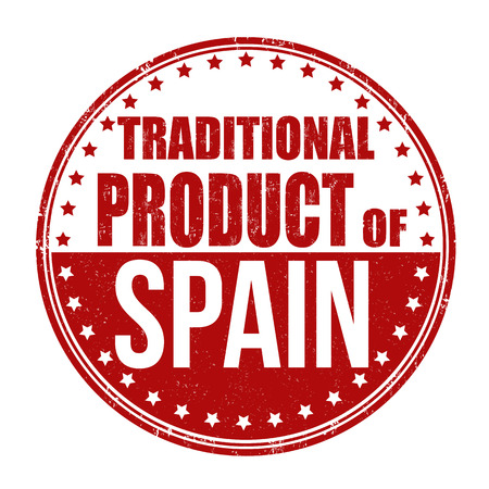 made in spain: Traditional product of Spain grunge rubber stamp on white background, vector illustration