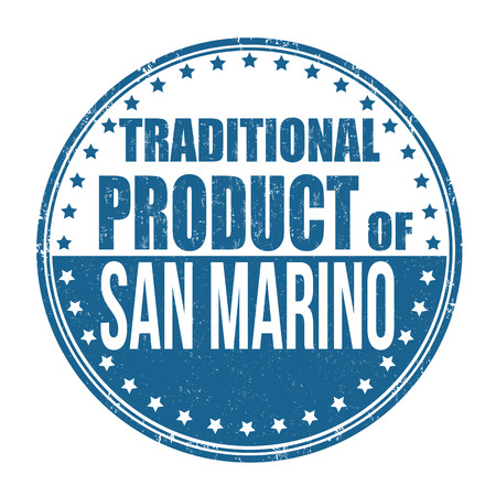 marino: Traditional product of San Marino grunge rubber stamp on white background, vector illustration Illustration