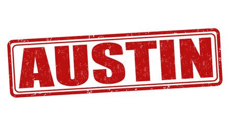 austin: Austin grunge rubber stamp on white background, vector illustration