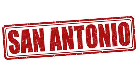San Antonio grunge rubber stamp on white background, vector illustration Vector
