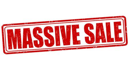 massive: Massive sale grunge rubber stamp on white, vector illustration Illustration