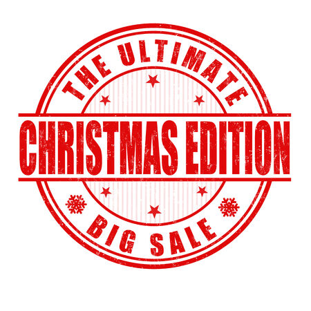 Christmas edition grunge rubber stamp on white background, vector illustration Vector