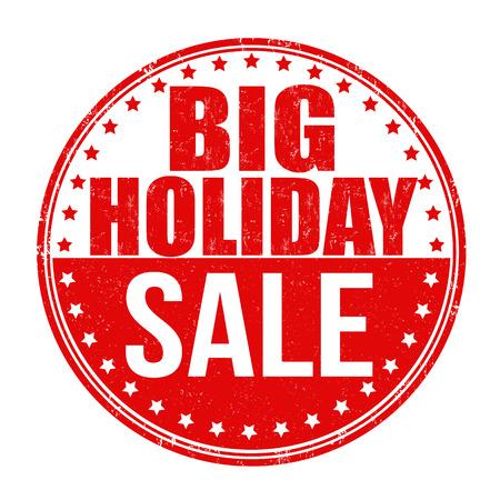 Big holiday sale grunge rubber stamp on white background, vector illustration Vector