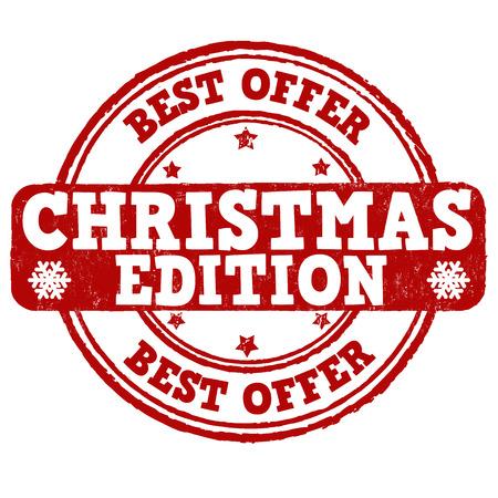 Christmas edition grunge rubber stamp on white background, vector illustration Illustration